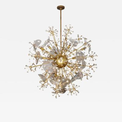 1980s Murano glass Moon Flower chandelier