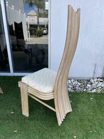 1980s Vintage Bamboo Dining Chairs Set of 6