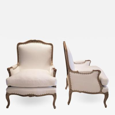 19TH C LOUIS XV BERGERES PAIR