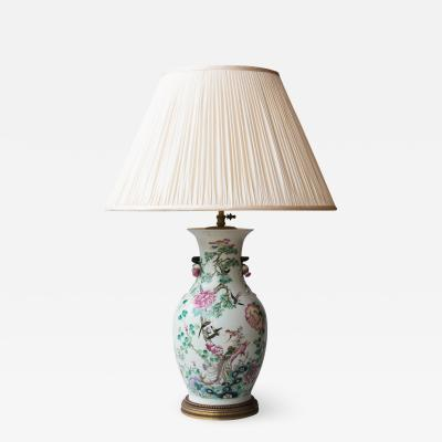19TH CENTURY CHINESE PORCELAIN VASE CONVERTED TO A LAMP