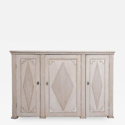 19TH CENTURY SWEDISH GUSTAVIAN PAINTED ENFILADE