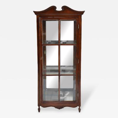 19th C Antique French Proven al Display Cabinet Louis XV