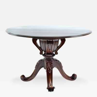 19th C Brazilian Jacaranda Round Table