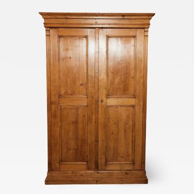 19th C English Pine Cabinet Cupboard