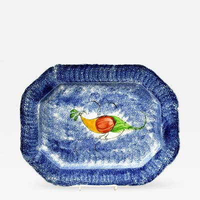 19th C English Spatterware Platter