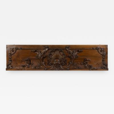 19th C French Carved Walnut Architectural Panel
