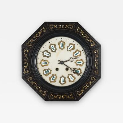19th C French Napoleon III Wall Clock