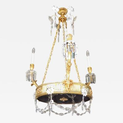 19th C French R gence Bronze Chandelier