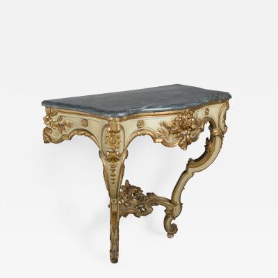 19th C Louis XV Style Parcel Gilt Console