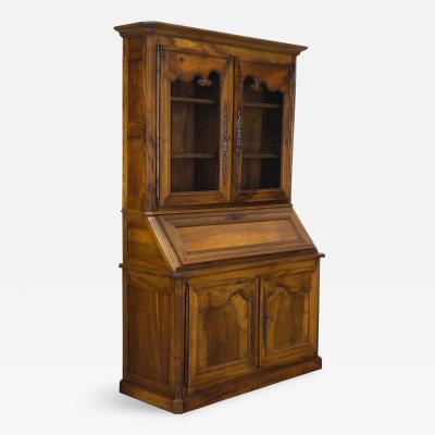 19th C Louis XV Style Secretaire Bookcase
