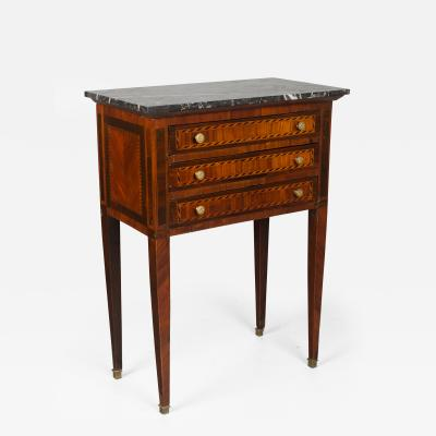 19th C Louis XVI Style Marquetry Side Table