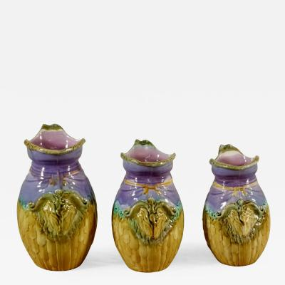 19th C Majolica Breakfast Set