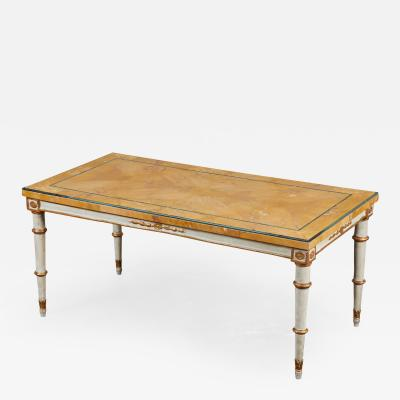 19th C Marble and Pine Low Table