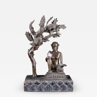 19th C Religious Statue of the Hindu Monkey God Hanuman N pal Bronze