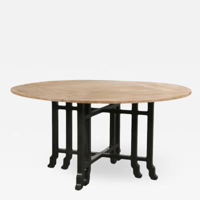 19th C Style Las Palmas Collection Japanese Country Black Breakfast Table