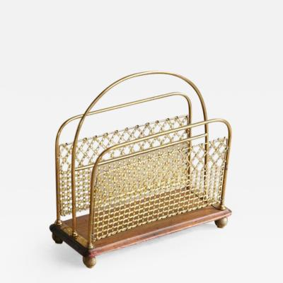 19th Century Aesthetic Movement Woven Brass Canterbury or Magazine Stand