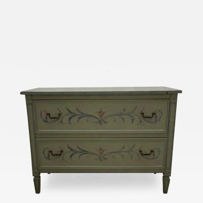 19th Century American Continental Green Painted Chest