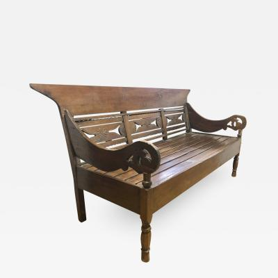 19th Century Anglo Indian Daybed Settee