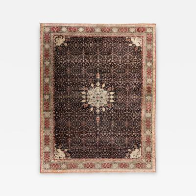 19th Century Antique Agra Rug with Central Medallion Design circa 1890