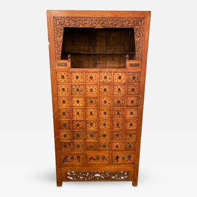 19th Century Apothecary Cabinet Having 45 Drawers Large and Impressive