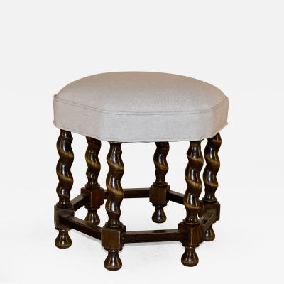 19th Century Barley Twist Stool with Six Legs