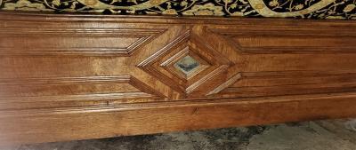 19th Century Belgian Golden Oak Daybed