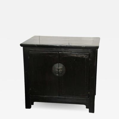 19th Century Black Lacquer Cabinet