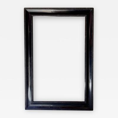 19th Century Blackened Wood Frame