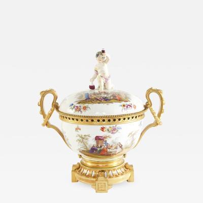 19th Century Bronze Mounted Porcelain Centerpiece