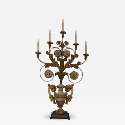 19th Century Candelabra Table Lamp