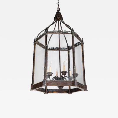 19th Century Cast Bronze Hanging Lantern