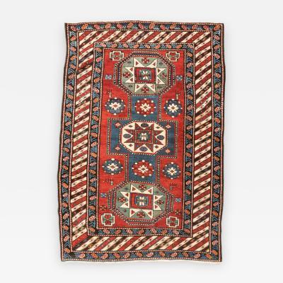 19th Century Caucasian Rug Kazak Geometric Design circa 1875 1900