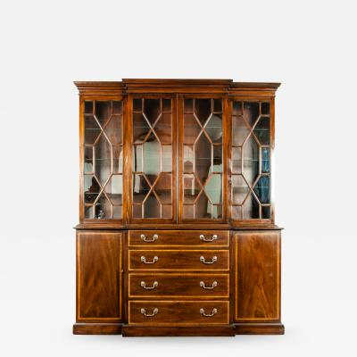 19th Century Chippendale Style Mahogany Hutch China Cabinet