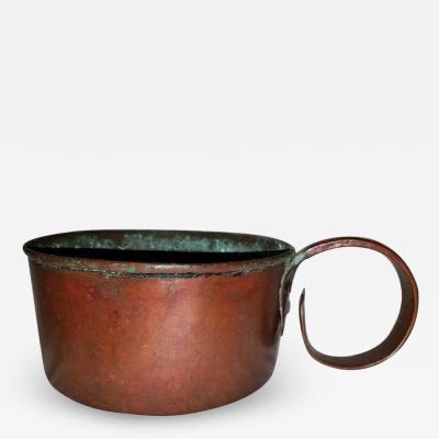 19th Century Civil War Copper Rum Cup or Mug with Provenance