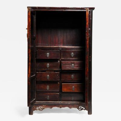 19th Century Compact Chinese Round Corner Cabinet