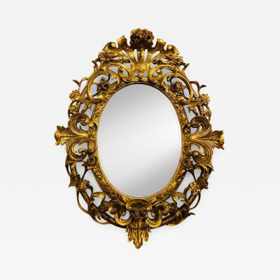 19th Century Console Pier or Wall Mirror Giltwood Gesso Louis XV