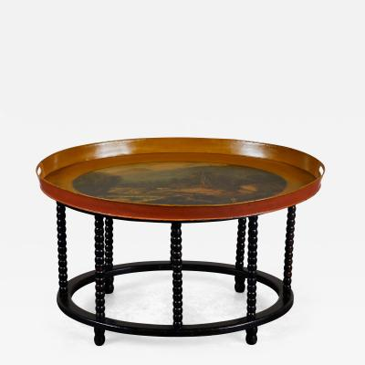 19th Century Danish Tole Tray Table
