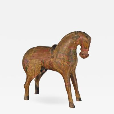 19th Century Decorative Painted Folk Art Horse Sculpture