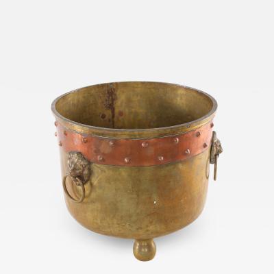 19th Century Eastern European Ash Bucket Log Holder