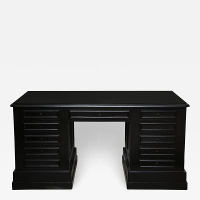 19th Century Ebonized Napoleon III Desk