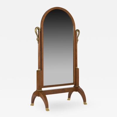 19th Century Empire Floor Mirror