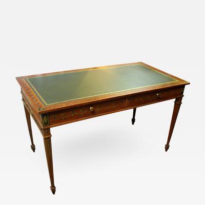 19th Century English Adam Style Satinwood Desk