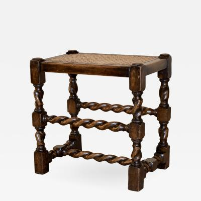 19th Century English Cane Top Stool