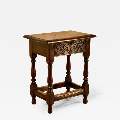 19th Century English Carved Stool