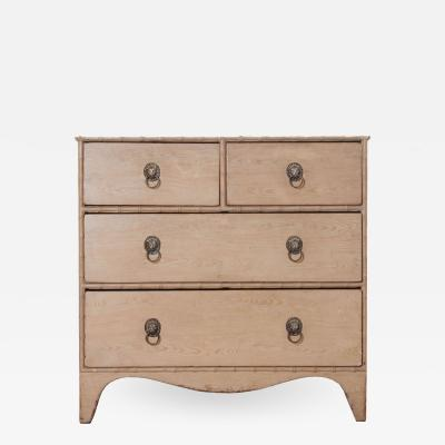 19th Century English Chest of Drawers with Faux Finish