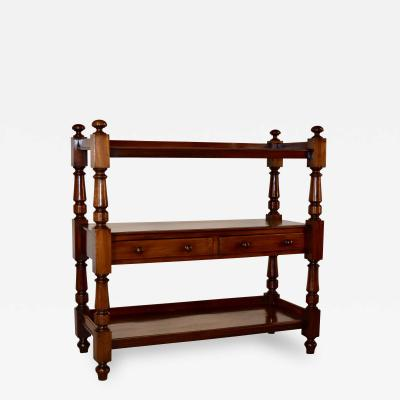 19th Century English Mahogany Shelf