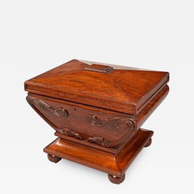 19th Century English Mahogany Wine Cooler of the Regency Period