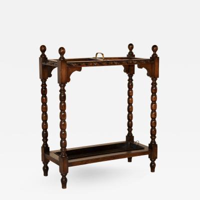 19th Century English Oak Umbrella Stand