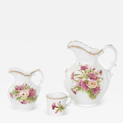 19th Century English Porcelain Bath Chamber Service