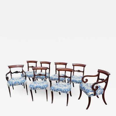 19th Century English Regency Dining Chairs Set of 8
